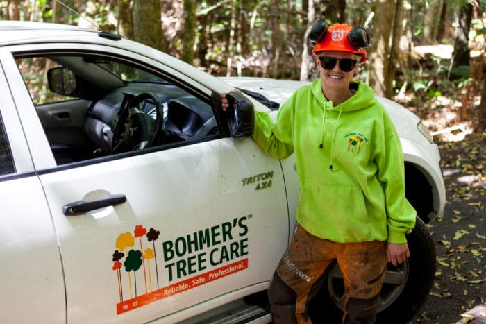 LAUREN BOHMER'S NEW RECRUIT Bohmer's Tree Care